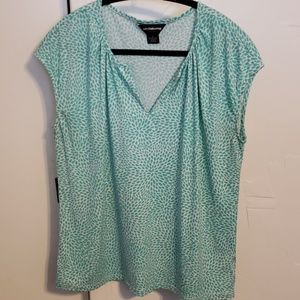 Liz Claiborne Career Seafoam cap sleeve top